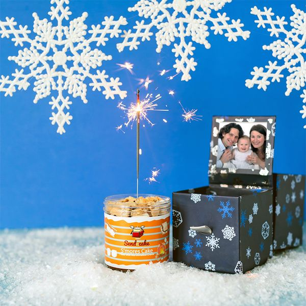 Picture of Snowflake Billboard Box 2-Pack with Personalized Photo ❄